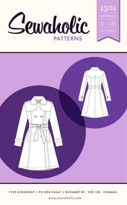 Robson Coat - Sewaholic Patterns
