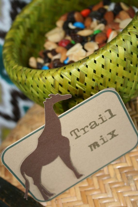Jungle safari buffet labels