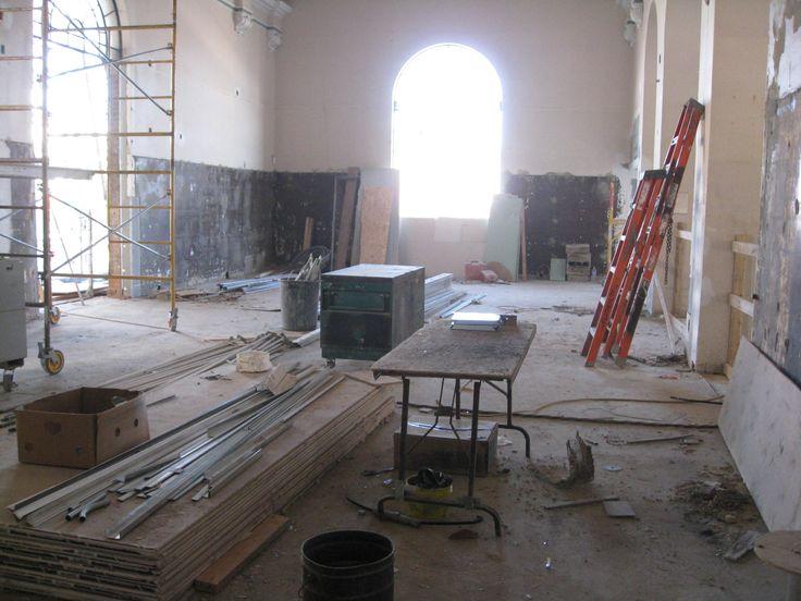 Bloor Gladstone Branch during renovation.