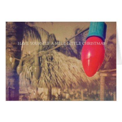 TROPICAL HOLIDAY 5x7 Greeting Card - holidays diy custom design cyo holiday family