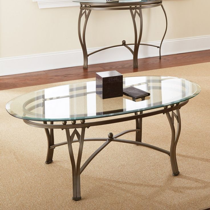 Oval Glass Top Coffee Table Sets