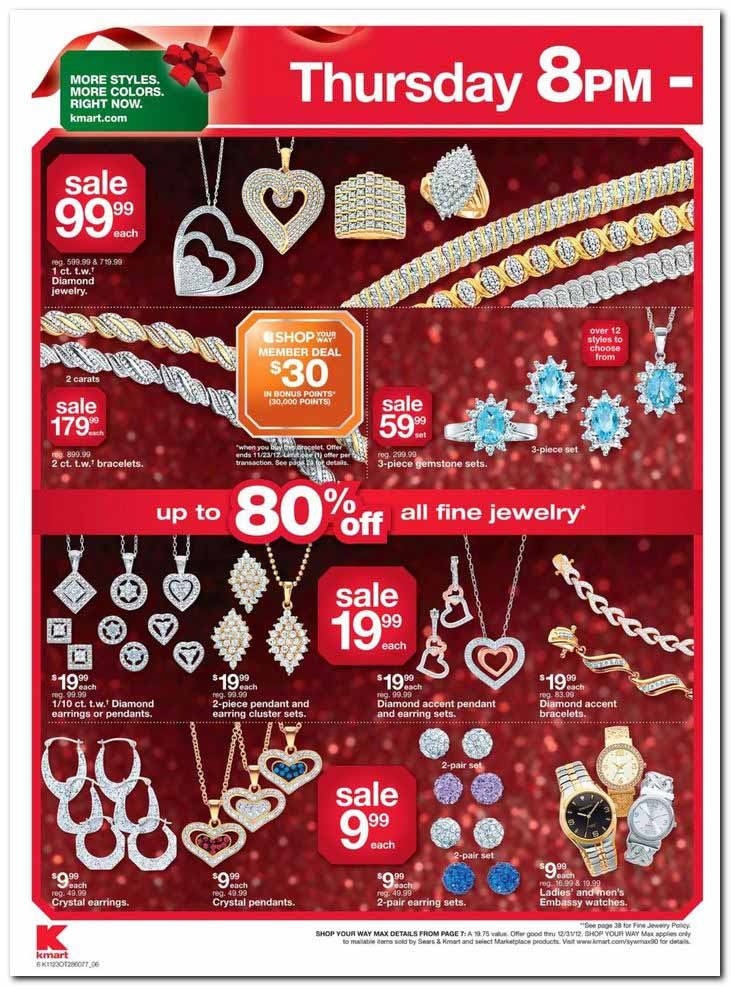Black Friday Ad Leak - Kmart's Black Friday Ad Scan - The highly anticipated Kmart Black Friday Ad is here with an incredible 47 pages of hot deals for everything you could possibly want to buy on sale for the holidays from the hottest toys to electronics and everything in between. #Kmart #BlackFriday #BlackFridayDeals #openThanksgivingDay #jewelry #BlackFridaySale #earrings #necklaces #diamonds