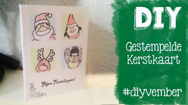 DIY Gestempelde Kerstkaart Maken Collage DAG 25 DIYVMEBER