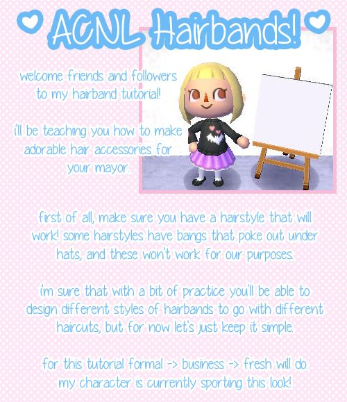 Hairband tutorials Animal Crossing New Leaf Pinterest Thoughts, Animals and Tutorials