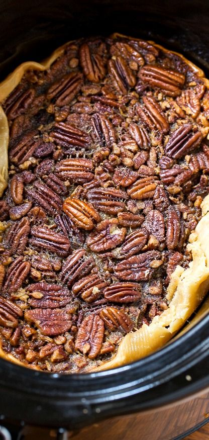 Pecan Pie made in the slow cooker! (video)