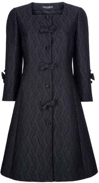 I could never spend $1500 on a coat, but Oh Em Gee, this is adorable!  D & G Flared Paisley Print Coat - Lyst