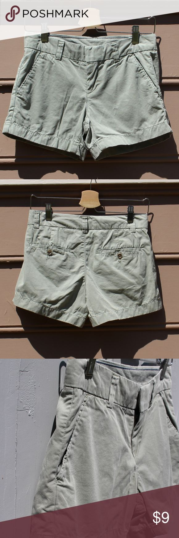 """EUC Uniqlo Olive Chino Shorts Perfect everyday chino shorts by Uniqlo, purchased in Tokyo. Very comfortable. 100% Cotton. Gently worn and washed only a few times. Excellent condition. Measurements: Inseam 4"""", Rise 8.5"""". 15"""" at waist laying flat. Japanese size 61cm, fits like US size 0.  Sorry, no trade! Uniqlo Shorts"""