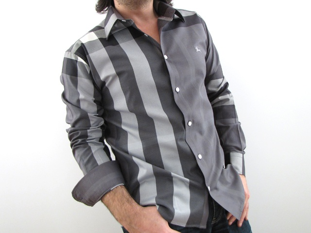Burberry Mens Shirt Gray