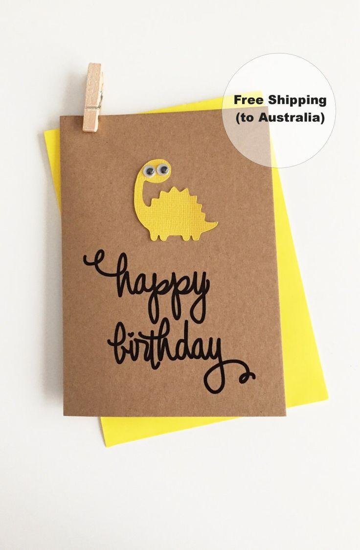 Cute Birthday Card – Happy Birthday Dinosaur Card – Cute Dinosaur Birthday Card – Kids Birthday Card – Dinosaur Happy Birthday Card by SweetCCDesign on Etsy https://www.etsy.com/au/listing/499724738/cute-birthday-card-happy-birthday