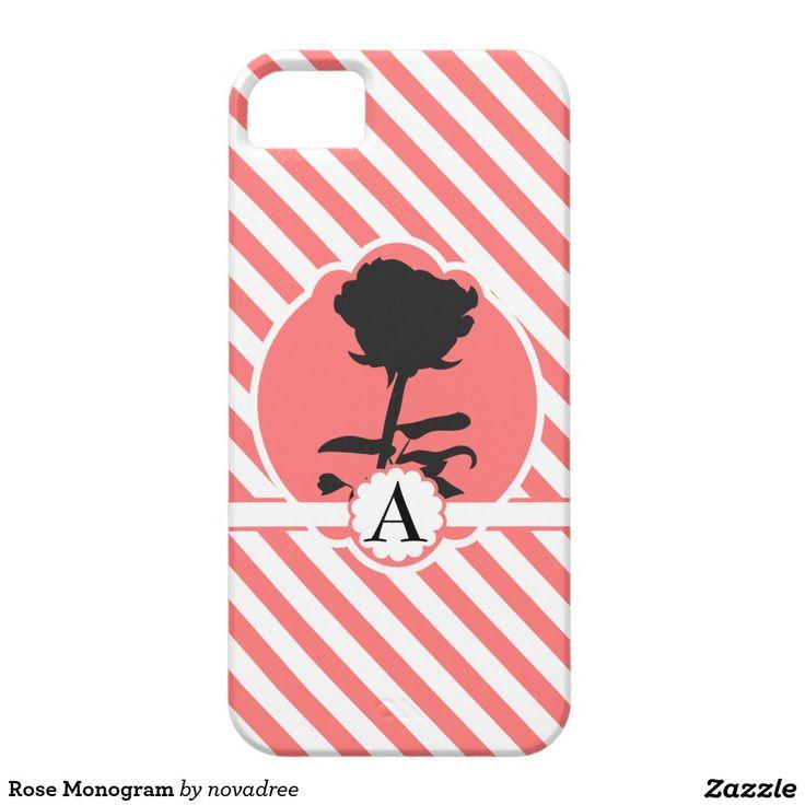 Rose Monogram iPhone 5 Case