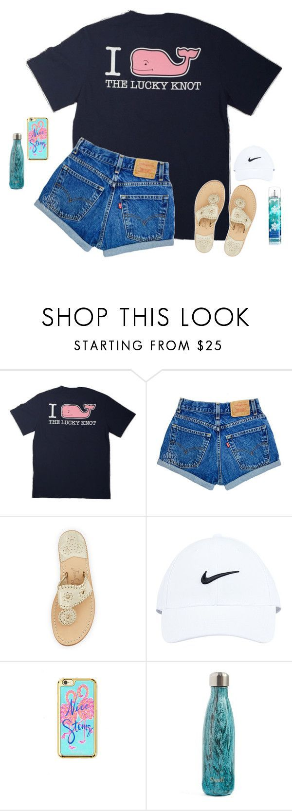 """comment your vsco!!"" by southernmermaid ❤ liked on Polyvore featuring Vineyard Vines, Jack Rogers, NIKE, Lilly Pulitzer and S'well"