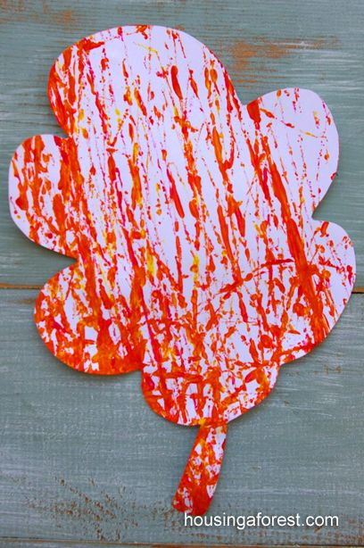 Fall Marble Painting ~ Adorable fall art project for kids.