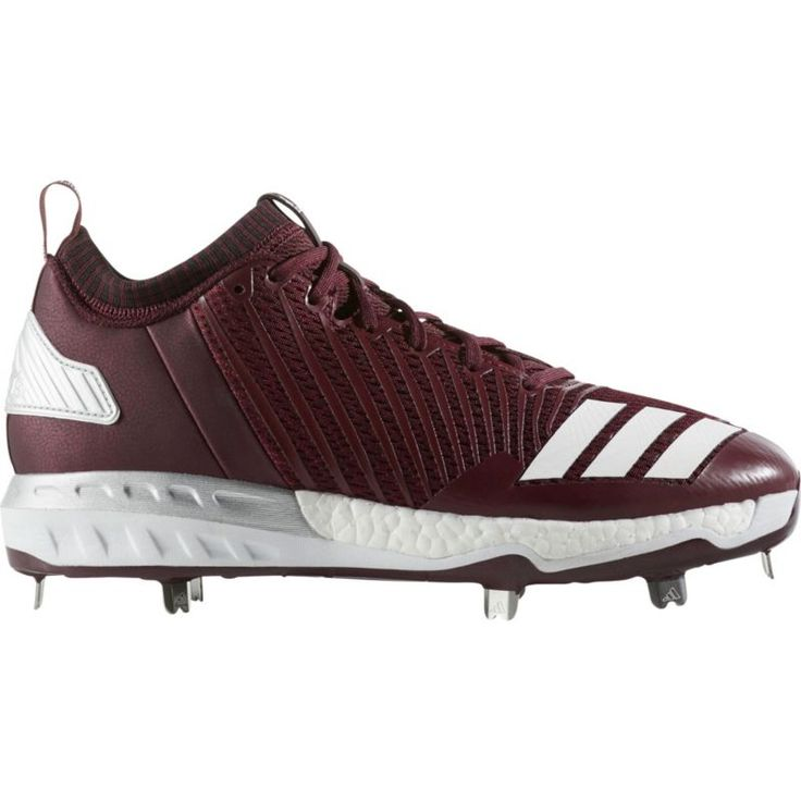 adidas Men\u0027s Boost Icon 3 Metal Baseball Cleats, Size: 14.0, Red/White
