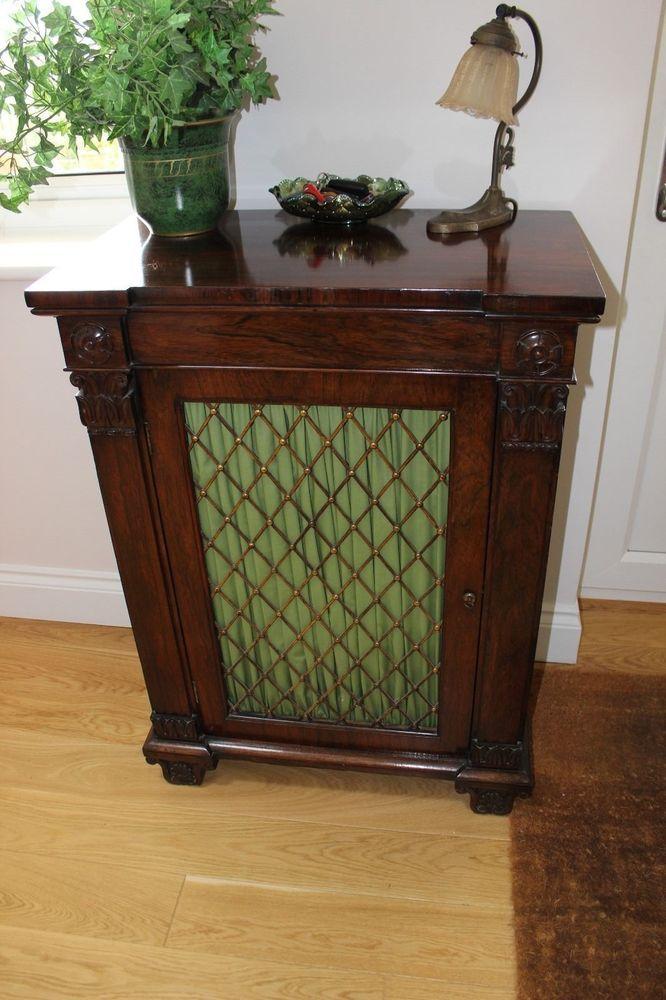 William IV rosewood pier cabinet