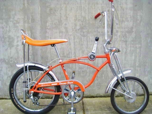 Schwinn Orange Krate Stingray - This exact bike in my childhood. They now sell for $$$ thousands!