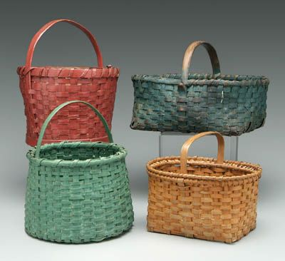 painted baskets:  repurpose all of of those old baskets