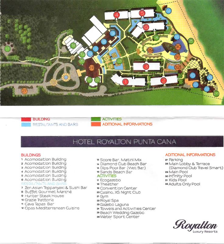 Royalton Punta Cana Map