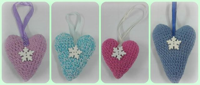 CROCHET HEARTS WITH LAVENDER AND ANGELS FRAGRANCE