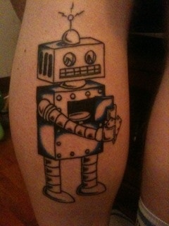 Robot tattoo in process by blink82, via Flickr