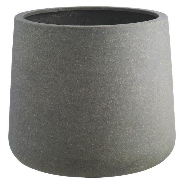 CRETE Grey planter 38 x 45cm | Buy now at Habitat UK