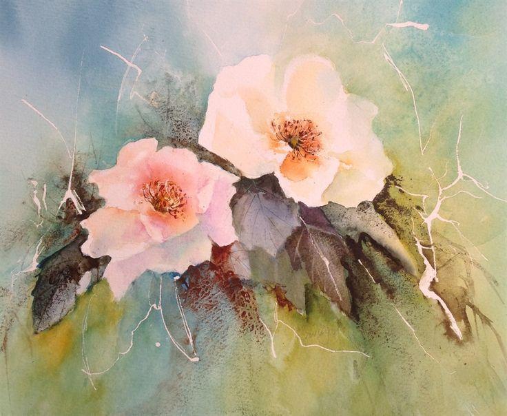 Flora. Watercolour by Carole Swingler