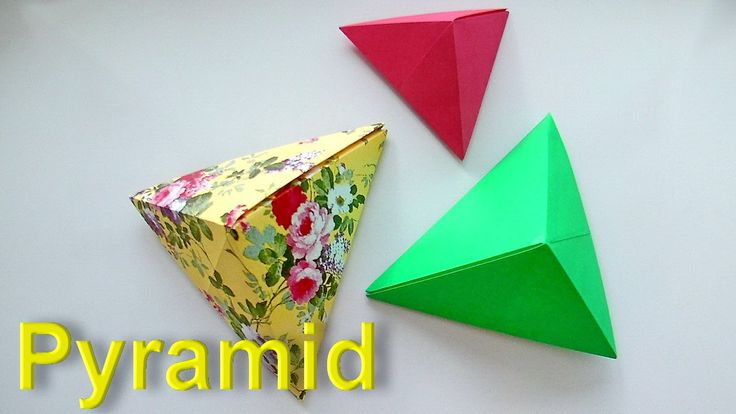 How to make a pyramid out of paper? Origami tutorial for beginners. Orig...