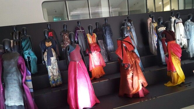 Hanbok style dresses by Lee Yeonghee.