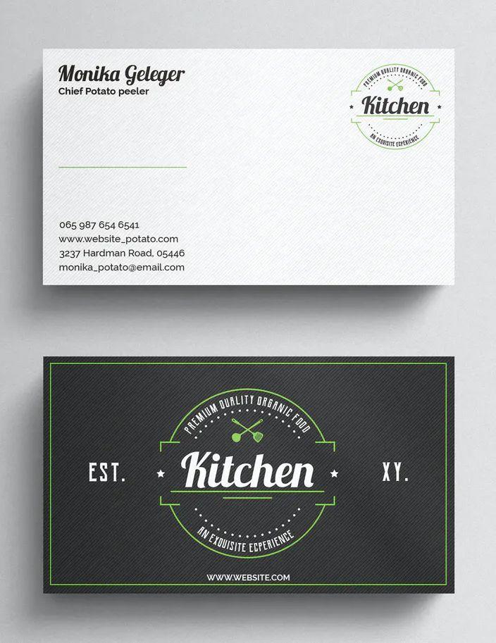 Restaurant Business Card Psd Restaurant Business Cards Business Card Psd Business Card Template Design