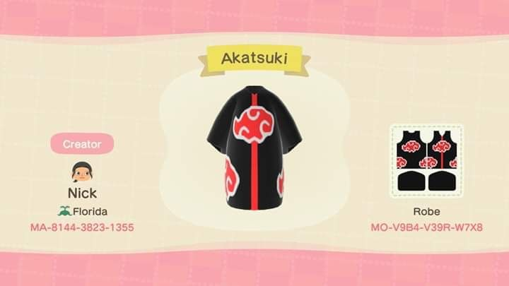 Pin By Iz On Acnl Acnh In 2020 Design Acnl Akatsuki