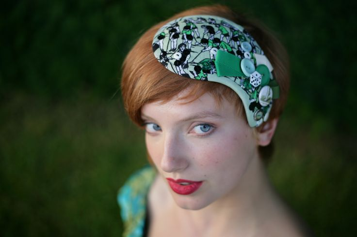 Green Embelished Headdress http://www.theheadmistressboutique.com/ https://www.etsy.com/uk/shop/headmistressboutique?ref=si_shop