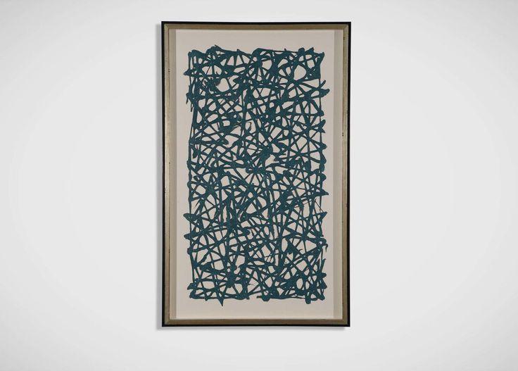 Turquoise Paper Art - Ethan Allen