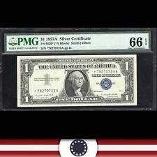 1957-A $1 STAR Silver Certificate BLUE SEAL PMG 66 EPQ *79270723A