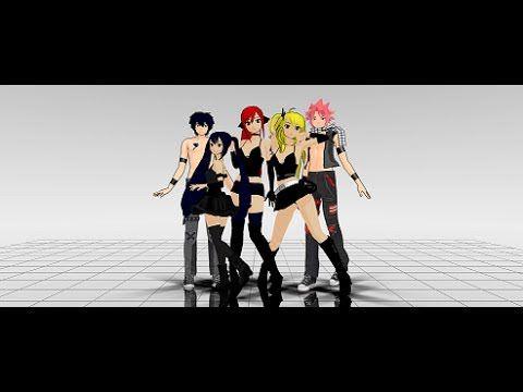 MMD Fairy Tail Courtesy Call (Team Natsu)