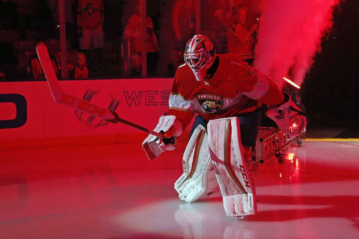 SUNRISE, FL - OCTOBER 13: Goaltender Roberto Luongo #1 of the Florida Panthers skates onto the ice prior to the start of the 2016-2017 season home opener against the New Jersey Devils at the BB&T Center on October 13, 2016 in Sunrise, Florida. (Photo by Eliot J. Schechter/NHLI via Getty Images)