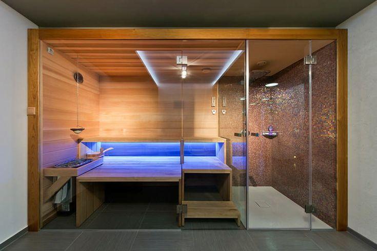 Sauna/Shower - Villa in Gardencity | Architema | near Budapest, Hungary