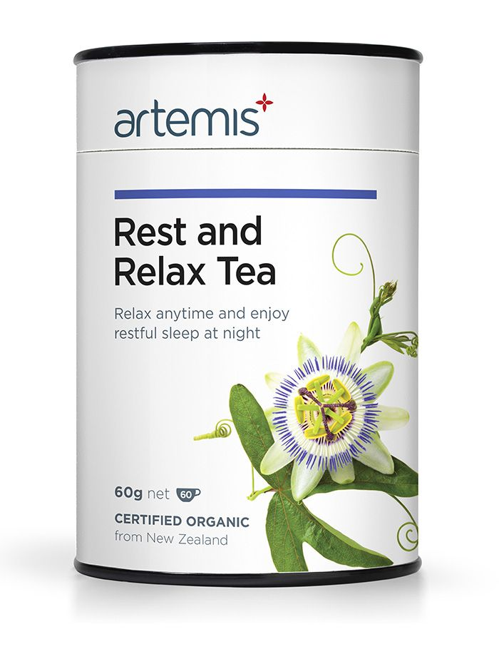 Rest and Relax Tea helps you to cope with feelings of anxiousness, worry, tension and tiredness by enhancing adrenal recovery. This formula is specifically designed to help you cope with what is playing on your mind, to help you rest well, and relax. Certified Organic, from NZ.