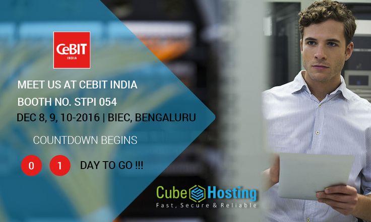 #SeeYouAtCeBIT , 1 day to go.  Meet Us At #CeBIT #India BOOTH NO. STPI 054  https://goo.gl/6AHfUA