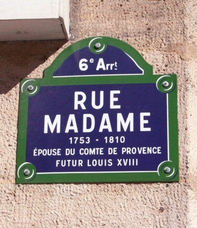 La rue Madame (Paris 6ème)