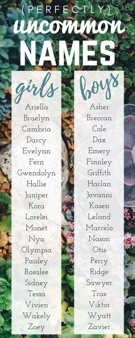 Our favorite (perfectly) uncommon baby names - enjoy!