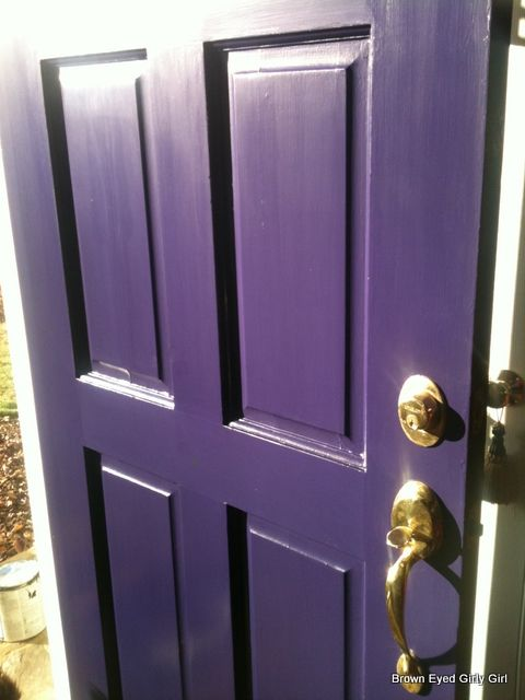 Benjamin Moore Plum Royale 2070-20 purple front door