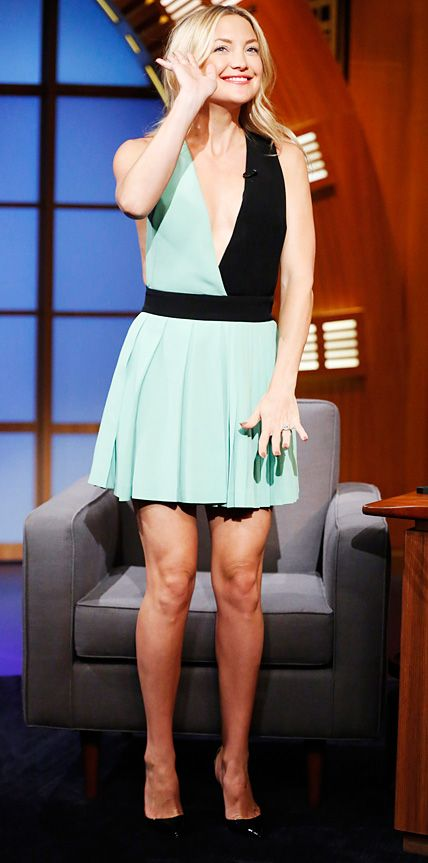 Sophie Lopez | Styling | Tanya Abriol | Hair | Look of the Day - July 23, 2014 - Kate Hudson in Fausto Puglisi from #InStyle | Late Night with Seth Meyers