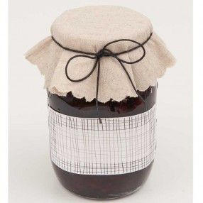 Jam jar Decoration Set linen 3 pieces