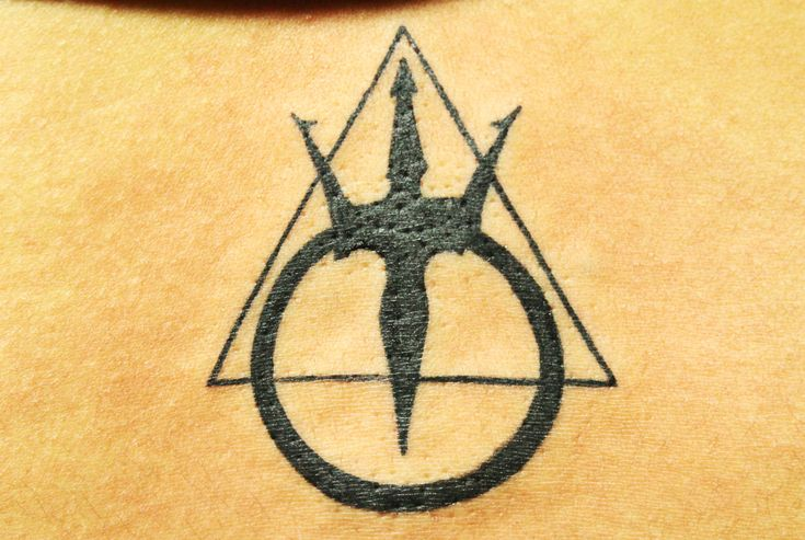 Tattoo of The mark of The Warriors of Poseidon - Black Poison Tattoos