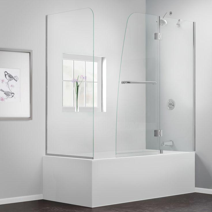 modern bathroom fountain valley reviews%0A Dreamline Aqua      x      Pivot Hinged Tub Door with Hardware  u     Reviews