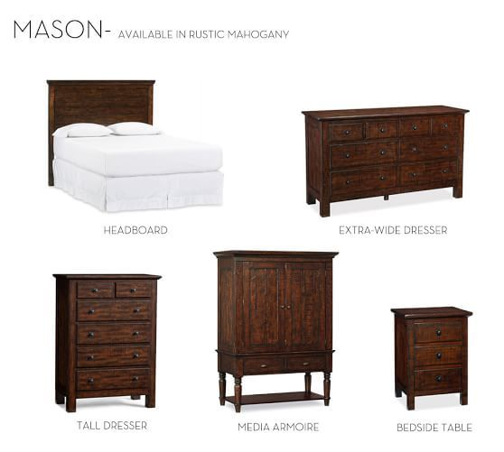 Mason Nightstand Extra Wide Dresser Tall Dresser