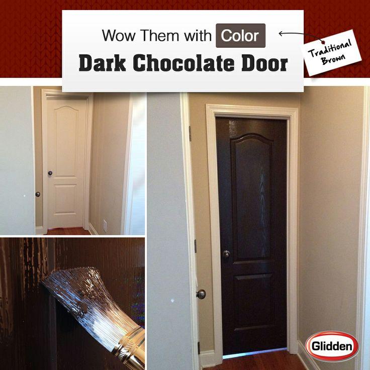 Revamp An Interior Door With A Dark Coat Of Trim U0026 Door Paint (http: