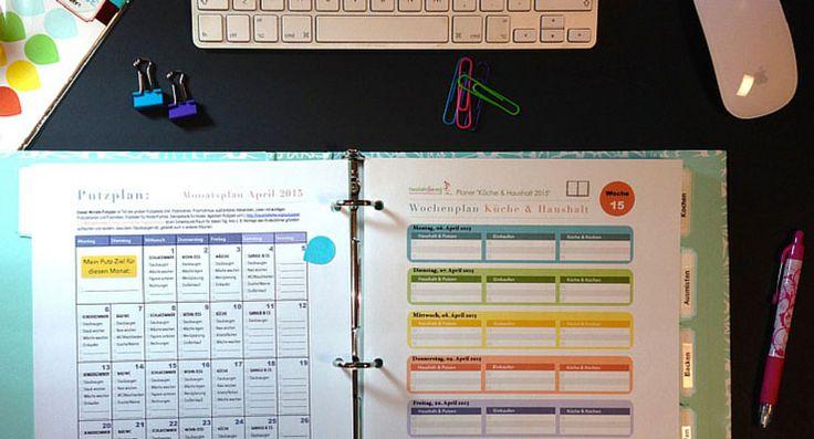 Im Haushaltsordner sortierst du die Checklisten ein. Er wird mit der Zeit zu deiner persönlichen Schaltzentrale für viele Tätigkeiten im Haushalt.