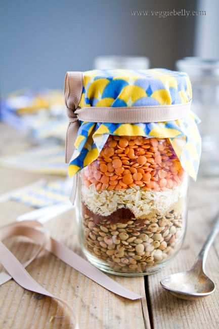 Dal Fry Mix in a Jar. Homemade Holiday Gift Ideas for Vegetarians