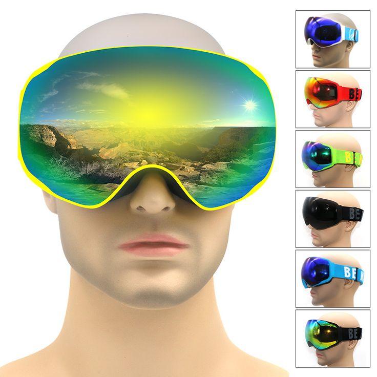 Professional ski goggles double lens anti-fog UV400 ski goggle ski snowboard eyewear men women snow goggles ski mask for adult