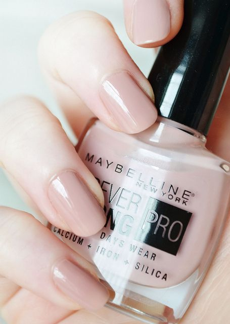 Maybelline Forever Strong Pro nail polish in Rose Poudré